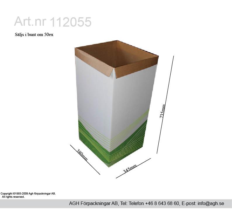 Papperskorg lagervara artnr 112055 finns även utan tryck vit.