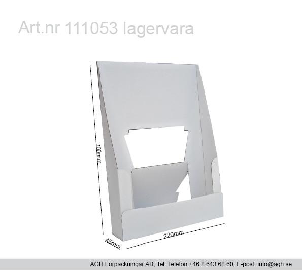 Kampanj Broschyrställ Format 220x45x300 mm A4