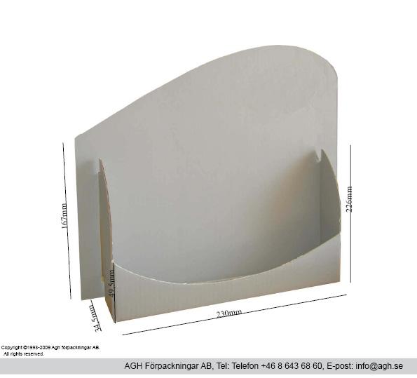 Broschyrställ för format 230x167mm