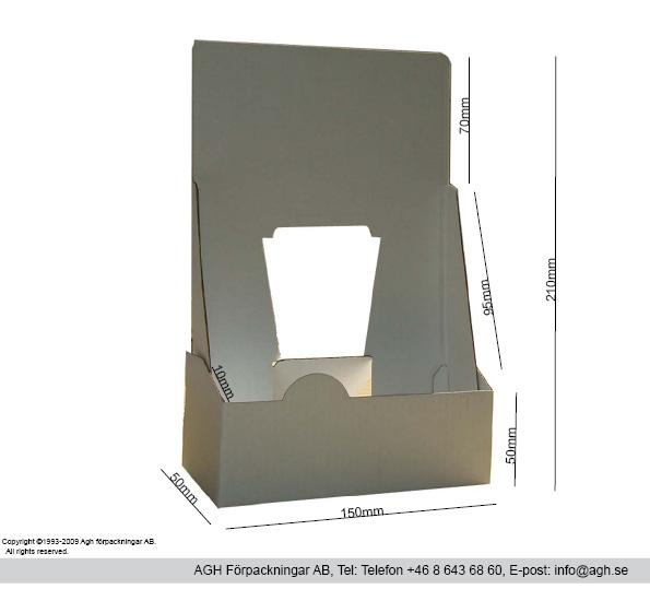 Broschyrställ 150x50x210mm