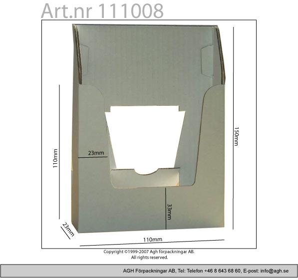 A6 broschyrställ 110x23x150mm