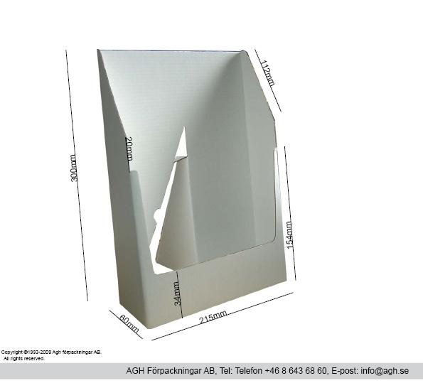 A4 broschyrställ format 215x60x300mm