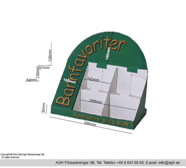 Cd/Dvd ställ för 4×5 stycken cd/dvd skivor format på fack bredd 142mm djup 74 mm.