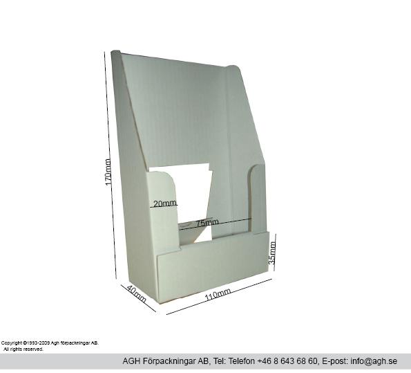 A6 broschyrställ 110x41x170mm