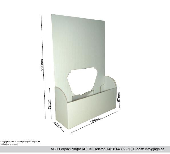 A5-broschyrställ 155x42x220 mm
