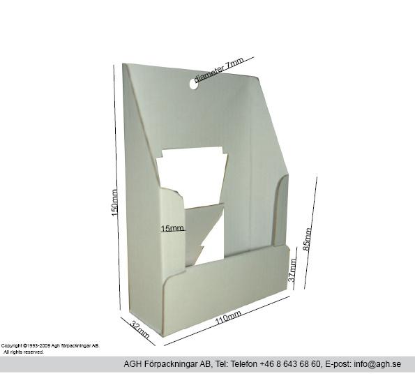 A6-broschyrställ 110x32x150mm