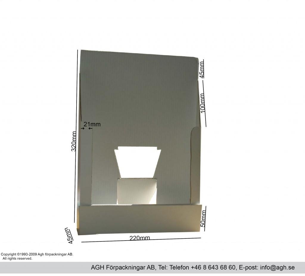 Broschyrställ 220x45x320mm