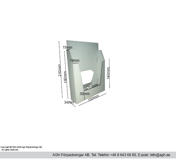 A5 broschyrställ 150x34x210mm