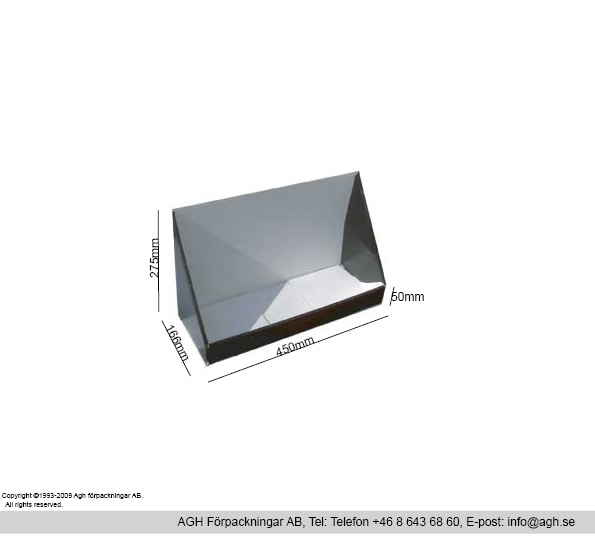 Disk/bordställ format 450x166x50/275-mm