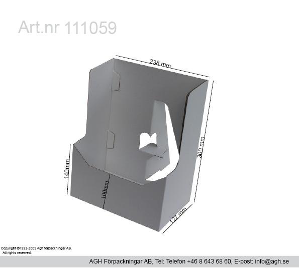 Tidningsställ 238x127x300mm(innerformat)