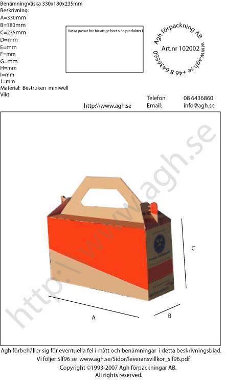väska 0217 330x180x235mm
