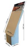 Golvställ med 6 stycken A4 eller spjutvägg