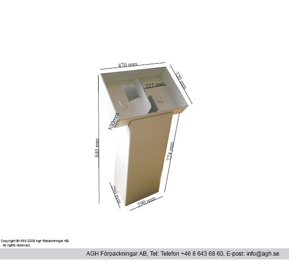 Golvställ för A4 med 2 fack