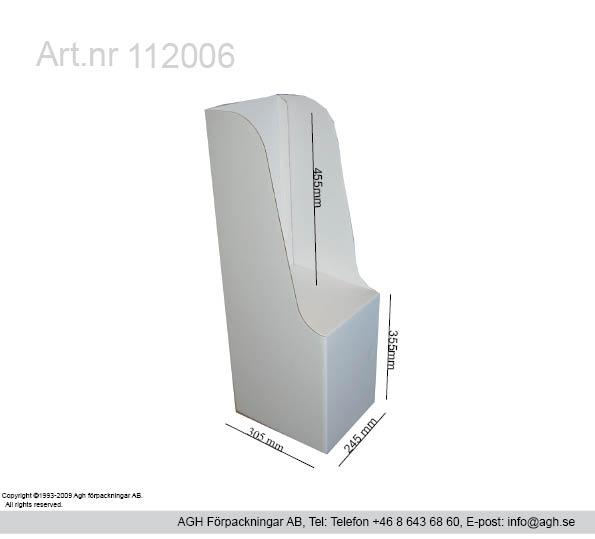 Kampanj på minitabloid golvställ format 245×305 mm packhöjd 455mm