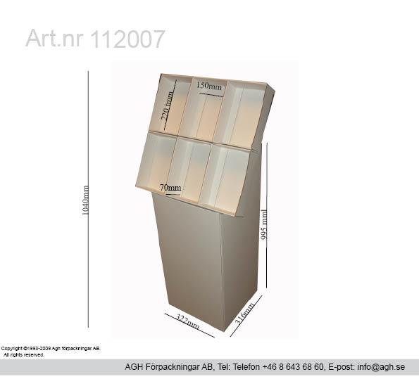 A5 ställ med 6 st fack 150x70x220mm för cd skivor