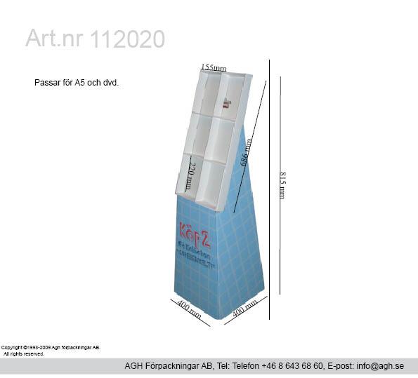 Broschyrställ i A5 format 155x55x220 mm