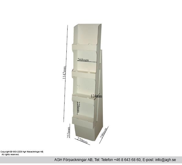 Golvställ 4 hyllor format 260x124x228 mm
