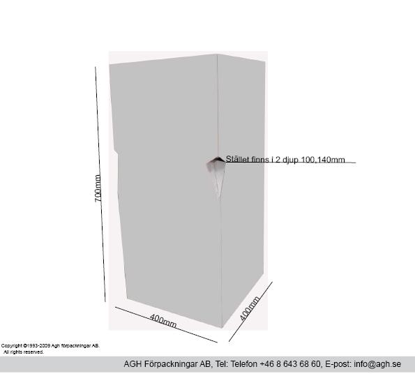 Störtställ 2 olika djup 100/140mm bredd 400 mm
