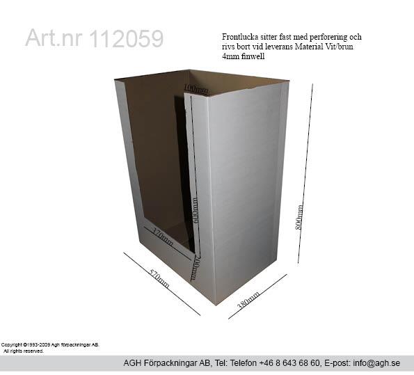 Kvartspall 570x380x800mm med front lucka