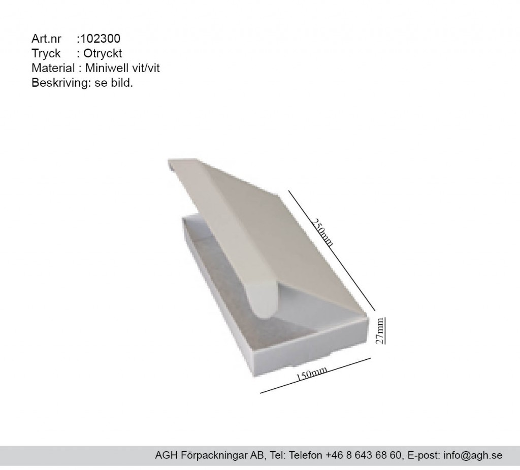 102300 250x27x150mm miniwell postförpckning