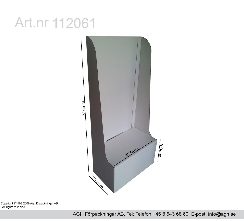 katalogställ format 375x203x816mm
