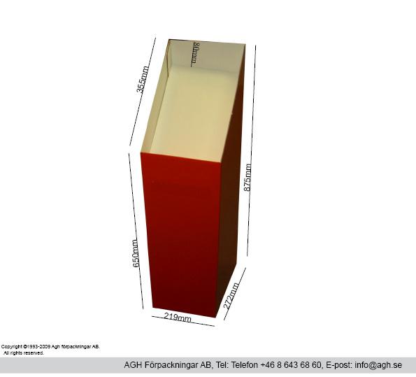Golvställ i A4-format 219x70x355mm