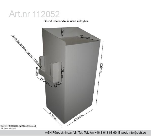 Golvställ för A3 och A4 broschyrer format 430x320mm djup 100 mm