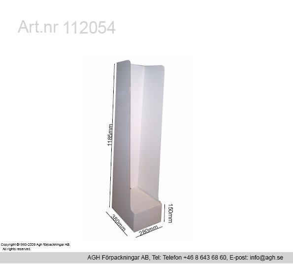 Golvställ fack format 280x380x1035/1185 mm